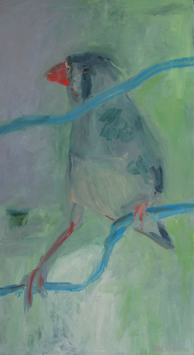 Sabine Beckmann, Two of a Kind II, oil on linnen, 90 x 50 cm, 2008