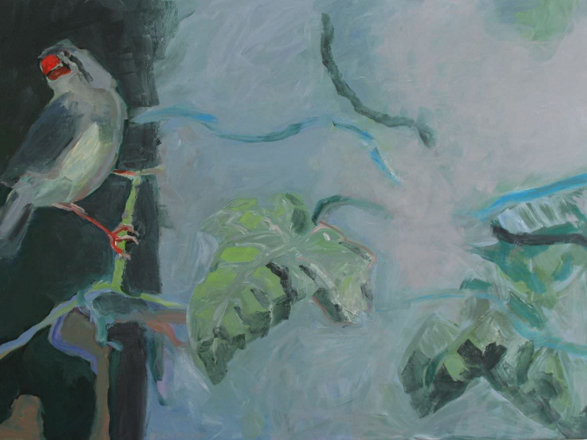 Sabine Beckmann, Two of a Kind I, oil on linen, 90 x 120 cm, 2008