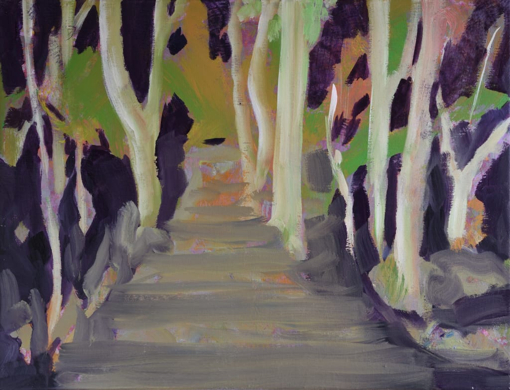 Sabine Beckmann, French Forest, oil on linen, 2020