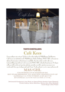 Cafee Kees exhibition artists MAS